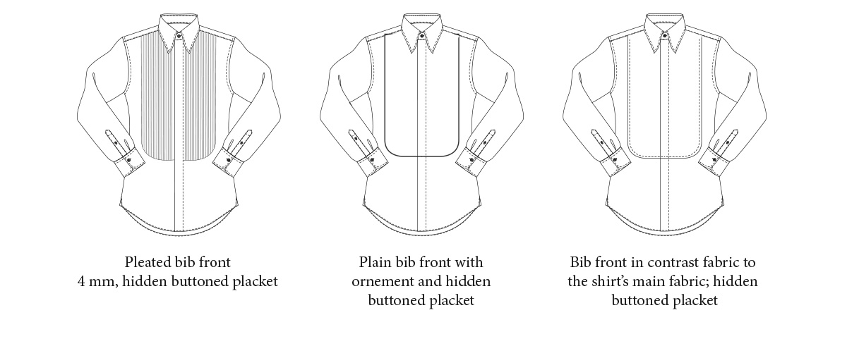 BIB FRONT BUTTONED PLACKET